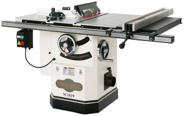 Shop Fox W1819 3 HP 10-Inch Table Saw - front view